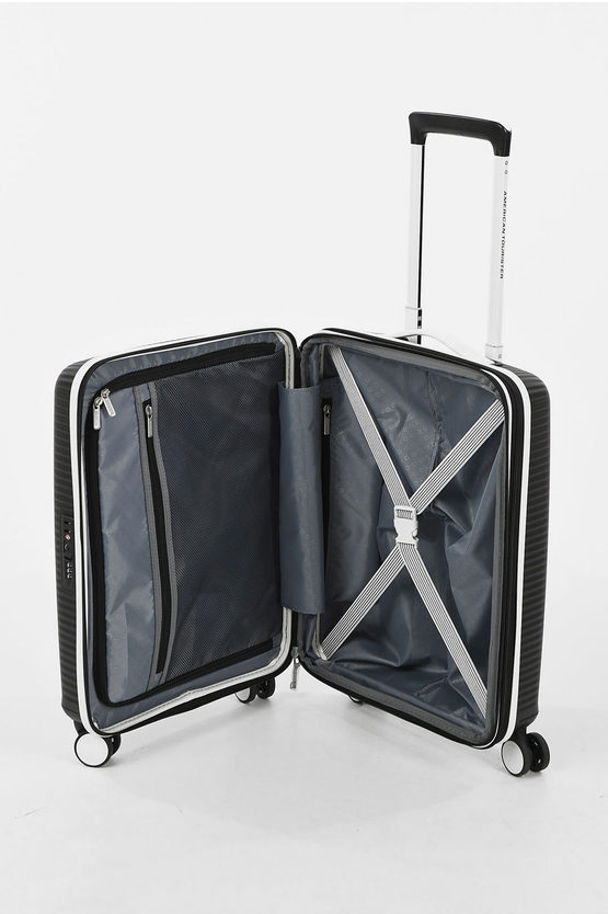 SOUNDBOX Set 2 Trolley 55/67cm 4R Espandibile Black/white