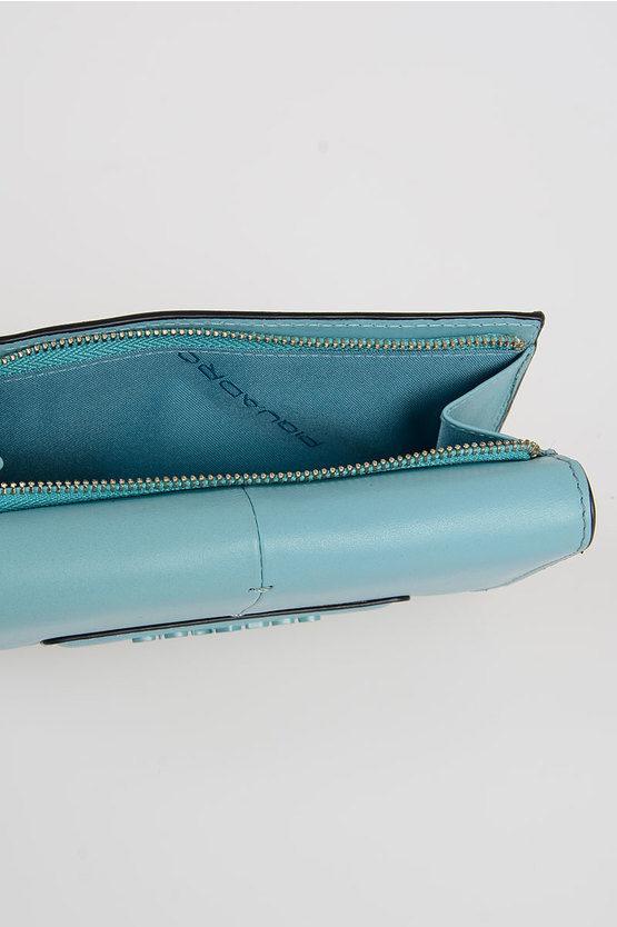 SPLASH Portafoglio in Pelle Azzurro