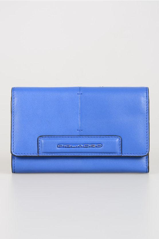 SPLASH Portafoglio in Pelle Blu