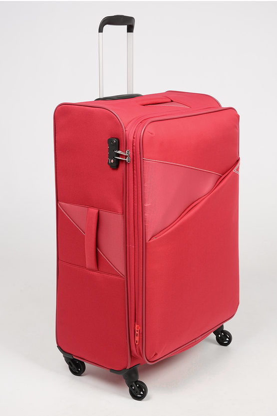 THUNDER Large Trolley 77cm 4W Expandable Red