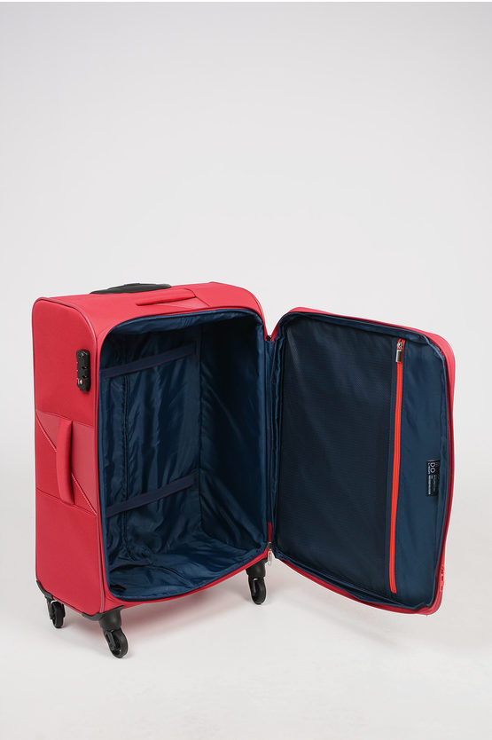 THUNDER Medium Trolley 67cm 4W Expandable Red