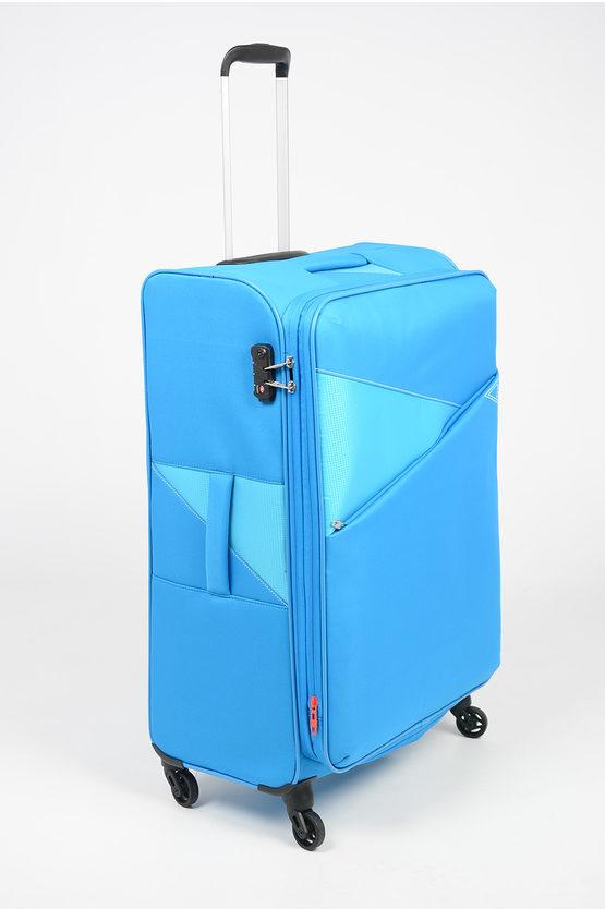 THUNDER Trolley Grande 77cm 4R Espandibile Blu Cielo