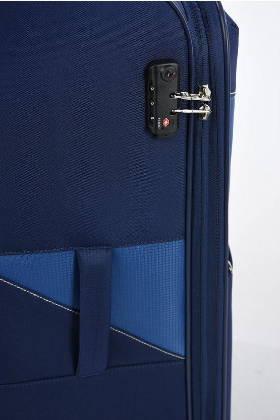 THUNDER Trolley Grande 77cm 4R Espandibile Blu Scuro