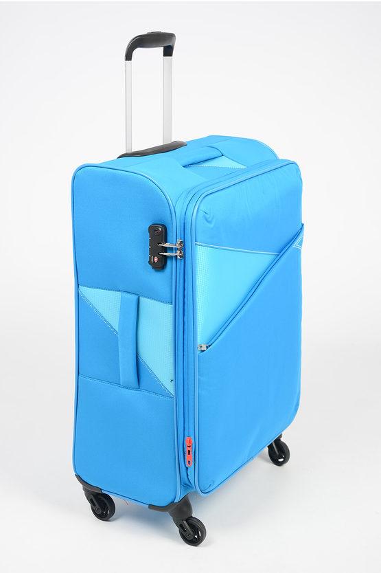 THUNDER Trolley Medio 67cm 4R Espandibile Blu Cielo