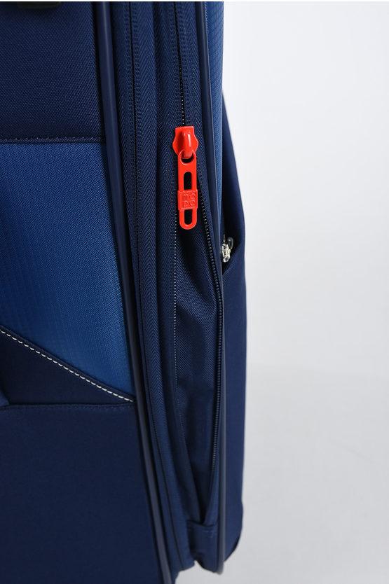 THUNDER Trolley Medio 67cm 4R Espandibile Blu Scuro