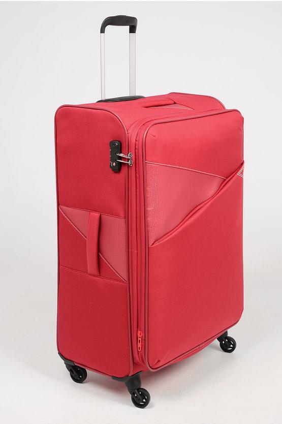 THUNDER Trolley Soft Grande 77cm 4R Espandibile Rosso
