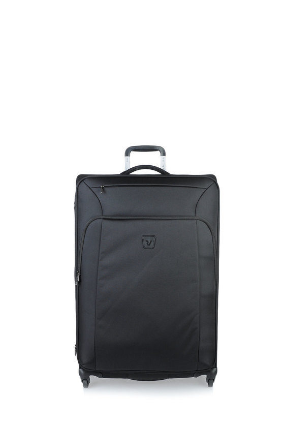 TRIBE Trolley Grande 75cm 4R Espandibile Nero