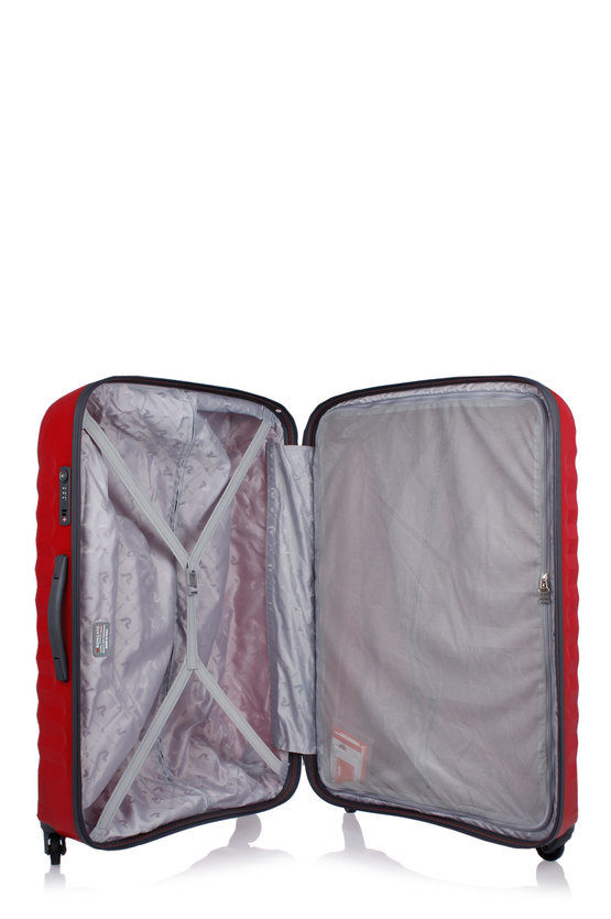 UNO Large Trolley 78cm 4W Grey/Red