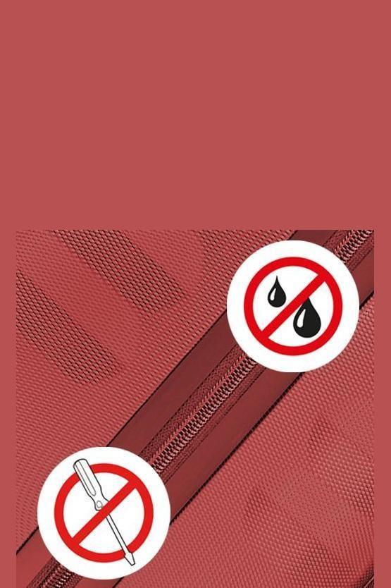 UNO ZSL PREMIUM Trolley Medio 72cm 4R Rosso