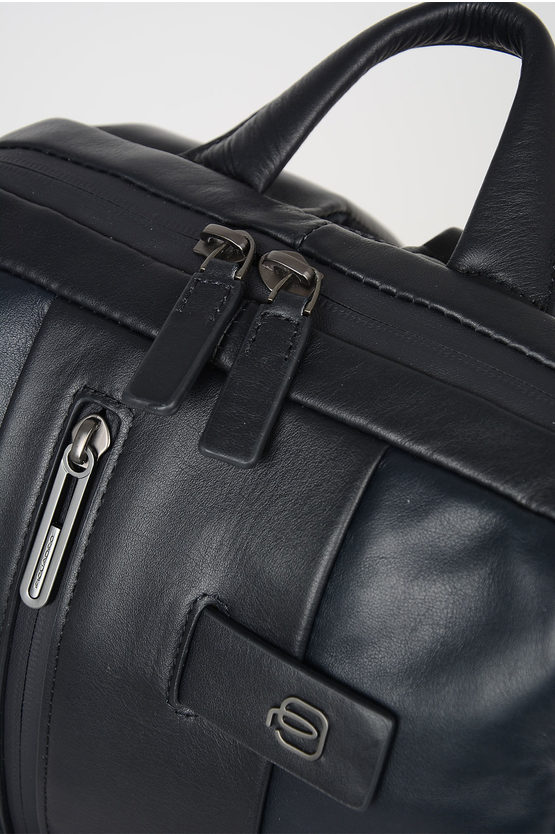 URBAN Cartella In Pelle per Notebook Blu