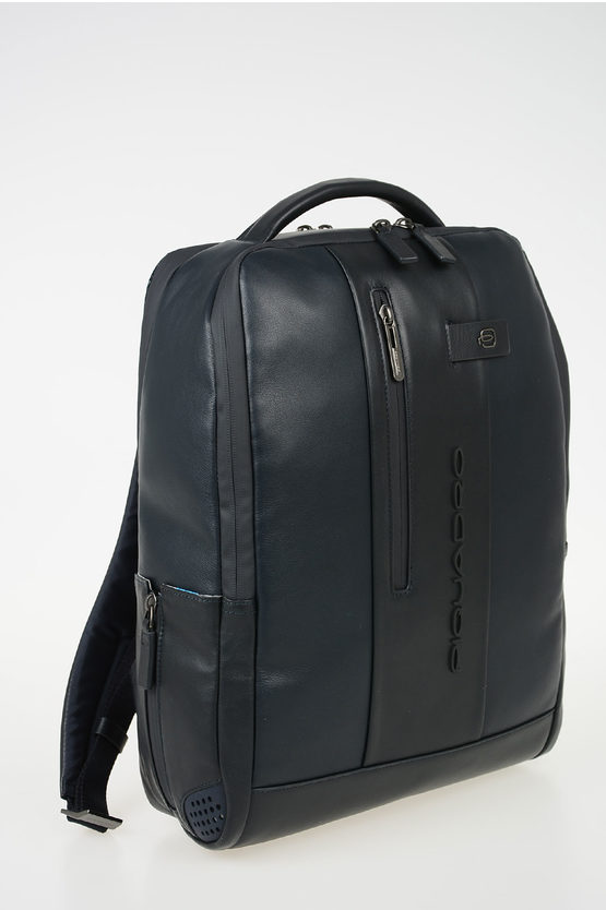 URBAN Leather Backpack Blue