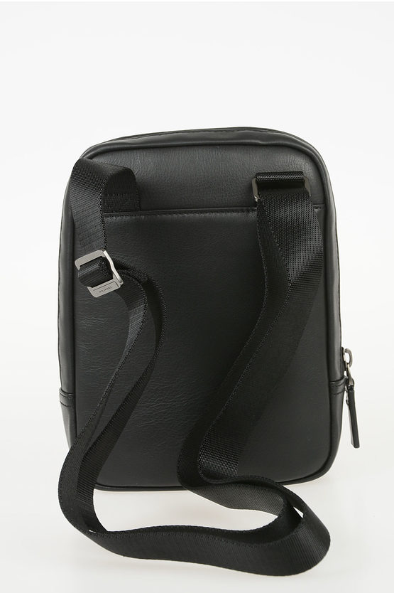 URBAN Leather Crossbody Bag Black