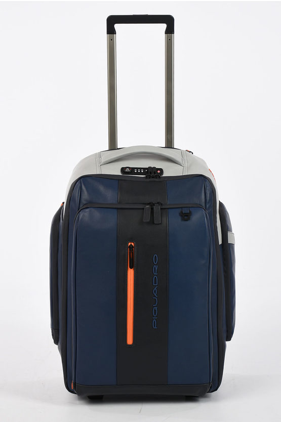 URBAN Trolley in Pelle 2Ruote Blu/Grigio