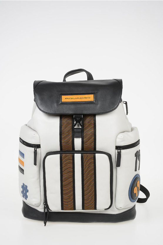 USIE Leather Notebook Backpack 14'' Grey