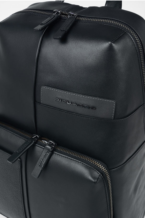 VANGUARD Leather Backpack Black