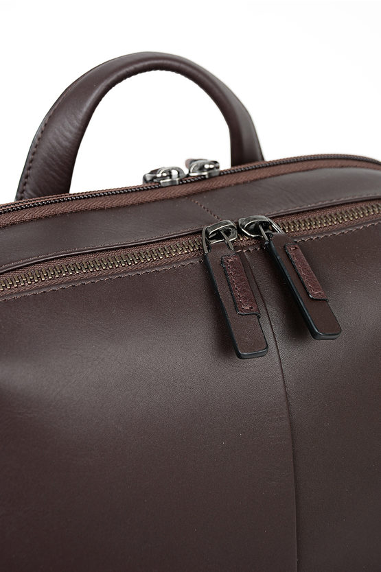 VANGUARD Leather Backpack for Notebook Ipad  Dark Brown