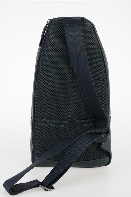 VANGUARD Leather Crossbody Bag Dark Blue