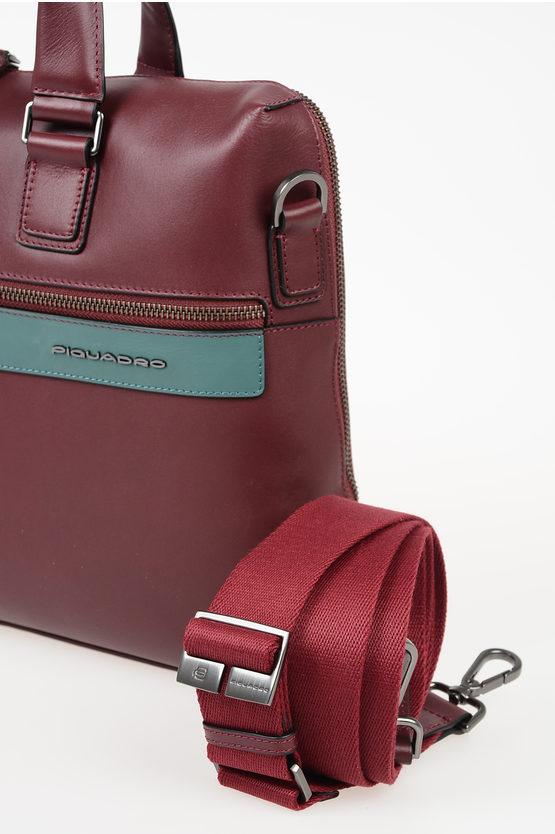 VANGUARD Leather Documents Business Bag Burgundy