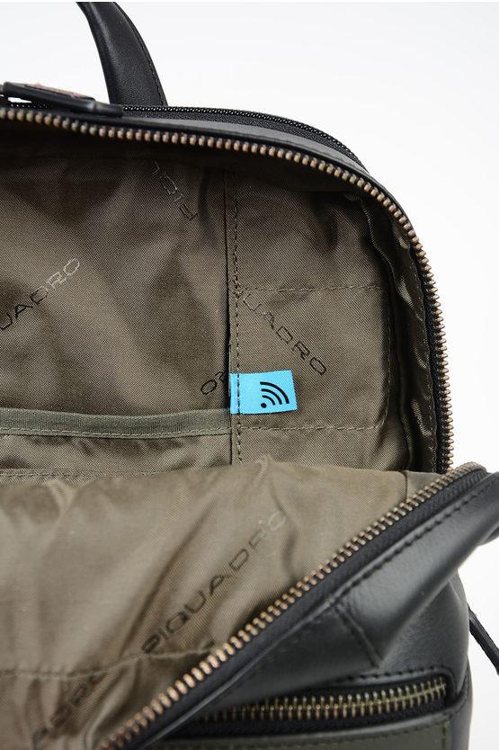 VANGUARD Zaino In Pelle Porta Notebook e Ipad Nero