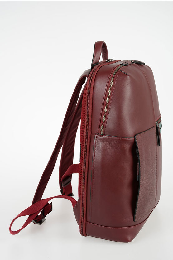 VANGUARD Zaino In Pelle Porta Notebook e Ipad Rosso