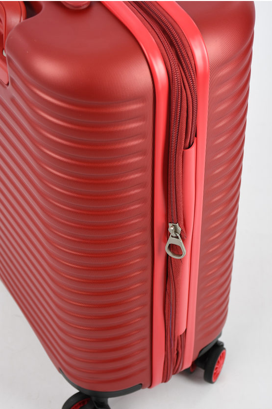 VEGA Cabin Trolley 55cm 4W Expandable Red