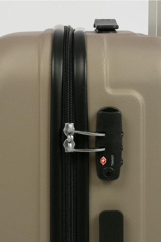 VISBY Trolley Medio Rigido 4R 66cm Grigio Perla