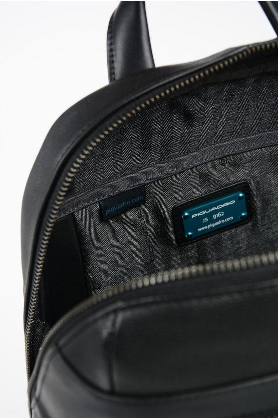 VOSTOK Leather Backpack Black