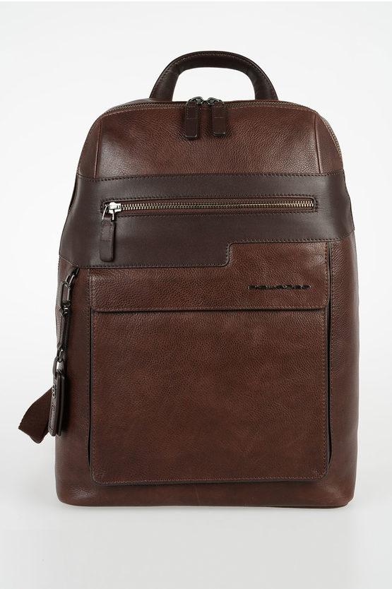 VOSTOK Leather Backpack Dark Brown