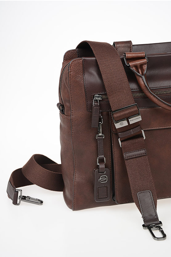 VOSTOK Leather Busines Laptop Bag Brown