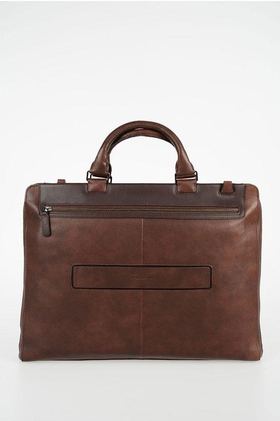 VOSTOK Leather Business Bag Dark Brown