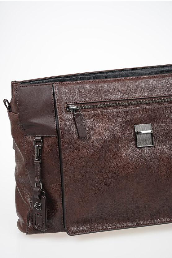 VOSTOK Leather Business Bag Dark Brown