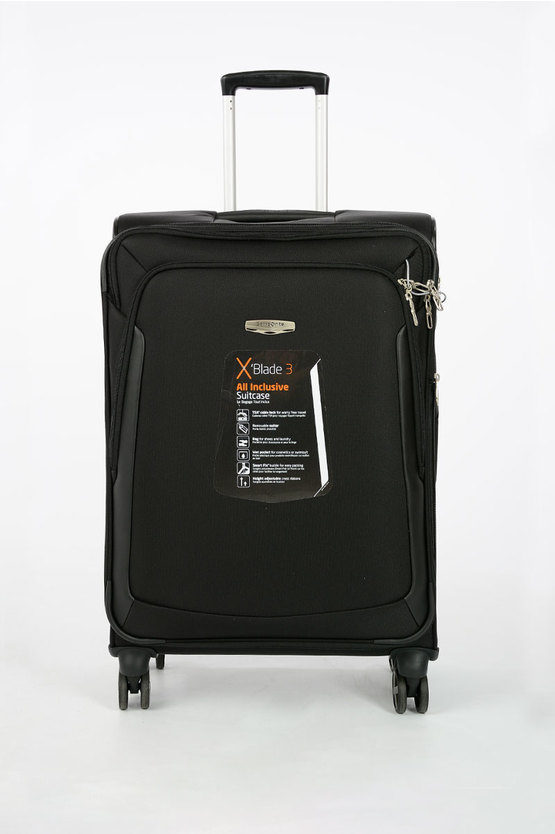 X BLADE 3.0 Trolley Medio Soft 4R EXP Spinner 71cm Nero