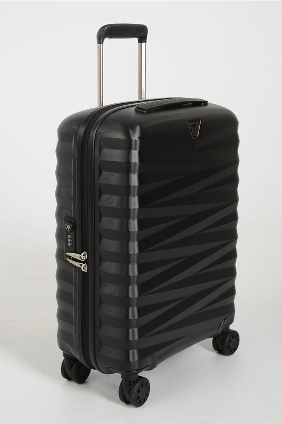 ZETA Cabin Trolley 55cm 4W Black